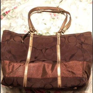 Large Coach Tote/Weekender/Carry On/Diaper Bag